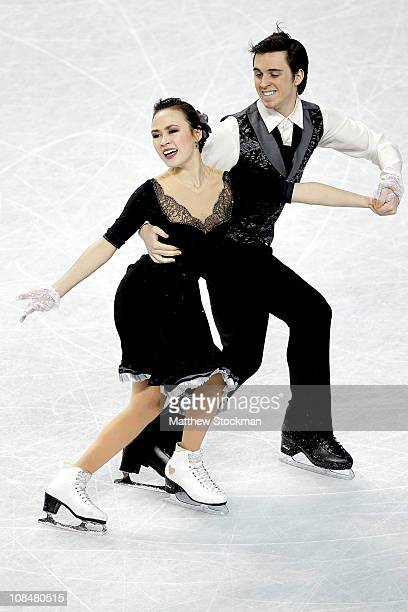 Madison Chock and Greg Zuerlein compete in the Championship Dance Short Dance during the US Figure Skating Championships at the Greensboro Coliseum...