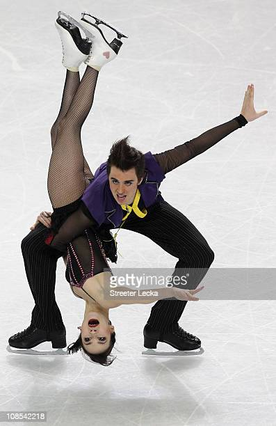 Madison Chock and Greg Zuerlein compete in the Championship Free Dance during the U.S. Figure Skating Championships at the Greensboro Coliseum on...