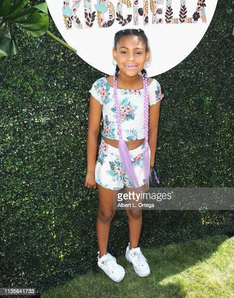 Madison Cobb arrives for Clubhouse Kidchella held at Pershing Square on April 6 2019 in Los Angeles California