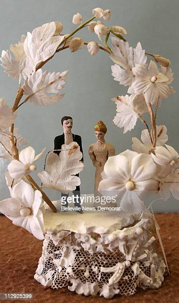 Madison County Historical Museum and Archival Library in Edwardsville Illinois has reorganized their wedding archive which includes a 1915 cake...