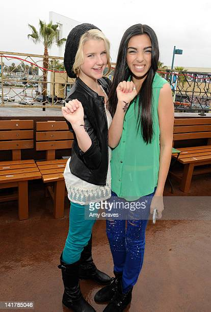 Madison Curtis and Savannah Hudson attend the Shamrock and Roll Concert for St. Jude Children's Hospital on March 17, 2012 in Los Angeles, California.