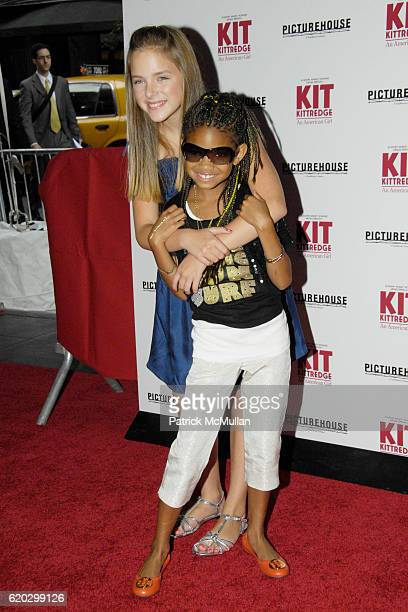 Madison Davenport and Willow Smith attend Premiere of PICTUREHOUSE's KIT KITTREDGE AN AMERICAN GIRL at The Ziegfeld Theater on June 19 2008 in New...