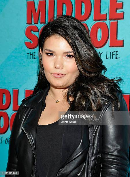 Madison De La Garza attends the Los Angeles red carpet screening of 'Middle School The Worst Years Of My Life' at TCL Chinese Theatre on October 5...