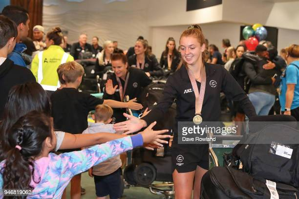 Madison Doar gold medal for hockey during the Welcome Home Function at Novotel on April 16 2018 in Auckland New Zealand