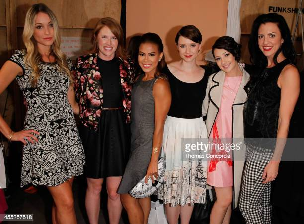 Madison Geroski Toni Trucks Valorie Curry Lisa Martin Natalie Dryfus and Christian Romano attend ELLE Runway Collection By Kohl's STYLE360...