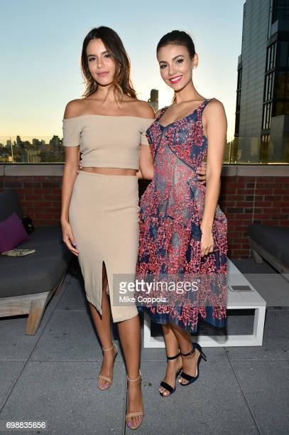 Madison Graace Reed and Victoria Justice attend the amfAR generationCURE Solstice 2017 at Mr Purple on June 20 2017 in New York City