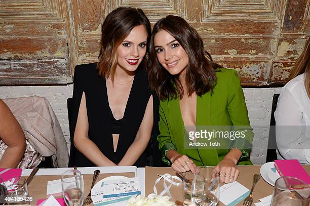 Madison Guest and Olivia Culpo attend Simply Stylist 'Do What You Love' Fashion Beauty Conference VIP Dinner with Dove Dry Spray at Saxon Parole on...