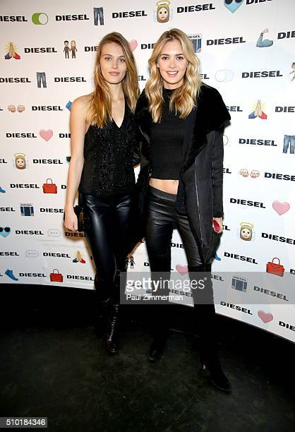 Madison Headrick and Megan Williams attend Diesel Madison Avenue Flagship Opening Celebration on February 13 2016 in New York City