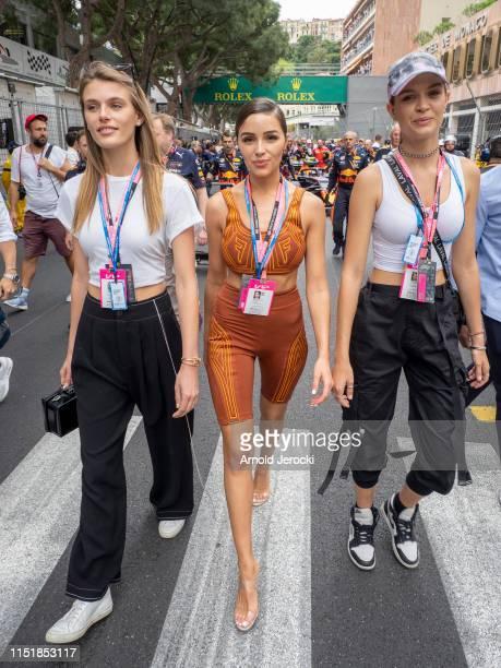 Madison Headrick, Olivia Culpo and Josephine Skriver attends the F1 Grand Prix of Monaco on May 26, 2019 in Monte-Carlo, Monaco.