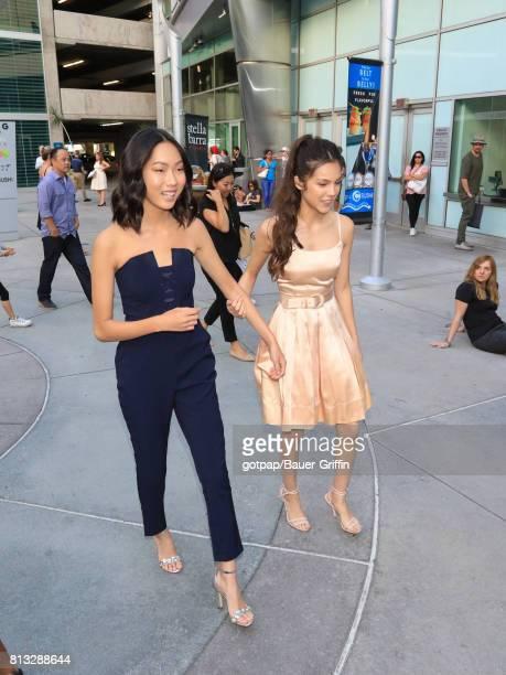 Madison Hu and Olivia Rodrigo are seen on July 11 2017 in Los Angeles California