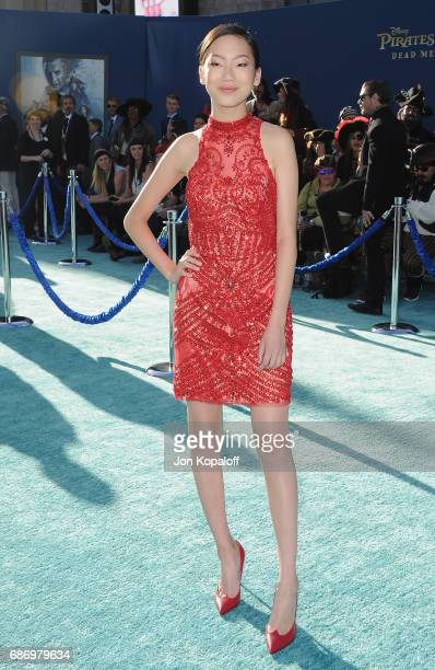 Madison Hu arrives at the Los Angeles Premiere Pirates Of The Caribbean Dead Men Tell No Tales at Dolby Theatre on May 18 2017 in Hollywood California