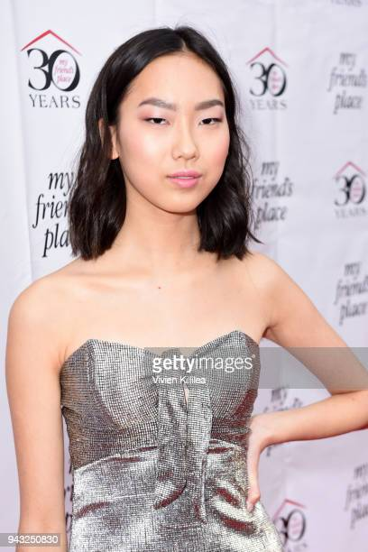 Madison Hu attends the My Friend's Place 30th Anniversary Gala at Hollywood Palladium on April 7 2018 in Los Angeles California