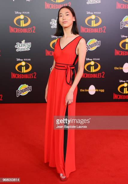 Madison Hu attends the World Premiere of Disney and Pixar's 'Incredibles 2' held on June 5 2018 in Los Angeles California