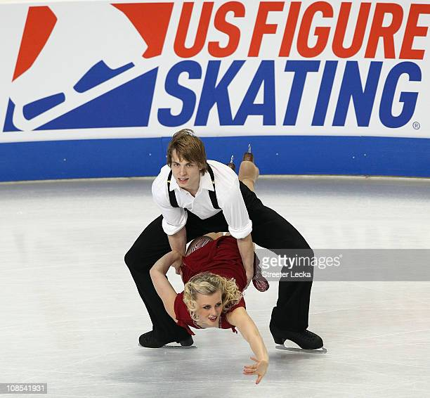 Madison Hubbell and Keiffer Hubbell compete in the Championship Free Dance during the US Figure Skating Championships at the Greensboro Coliseum on...