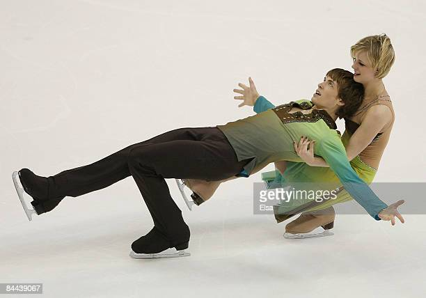 Madison Hubbell and Keiffer Hubbell compete in the free dance during the AT&T US Figure Skating Championships on January 24, 2009 at the Quicken...