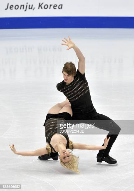 Madison Hubbell and Keiffer Hubbell of the US perform in the ice dance event during the ISU Four Continents Figure Skating Championships in Jeonju...