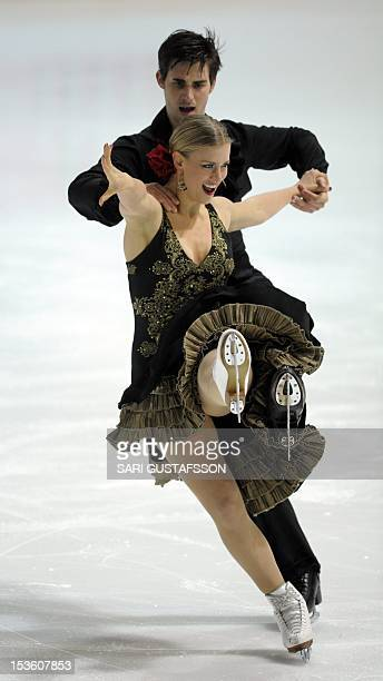 Madison Hubbell and Zachary Donahue of USA perform during the ice free dance, Finlandia Trophy Espoo International figure skating competition 2012 in...