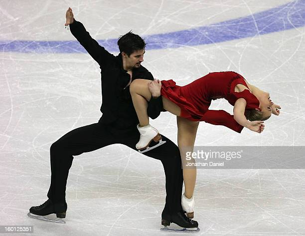 Madison Hubbell and Zachary Donohue compete in the Pairs Free Dance during the 2013 Prudential U.S. Figure Skating Championships at CenturyLink...