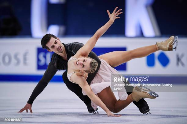 Madison Hubbell and Zachary Donohue of the United States compete in the Ice Dance Free Dance during day four of the ISU World Figure Skating...