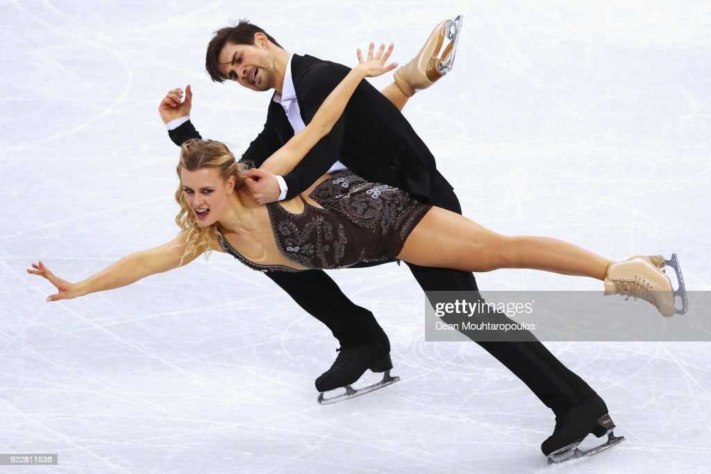 Madison Hubbell and Zachary Donohue of the United States compete in the Figure Skating Ice Dance Free Dance on day eleven of the PyeongChang 2018 Winter Olympic Games at Gangneung Ice Arena on February 20, 2018 in Gangneung, South Korea.