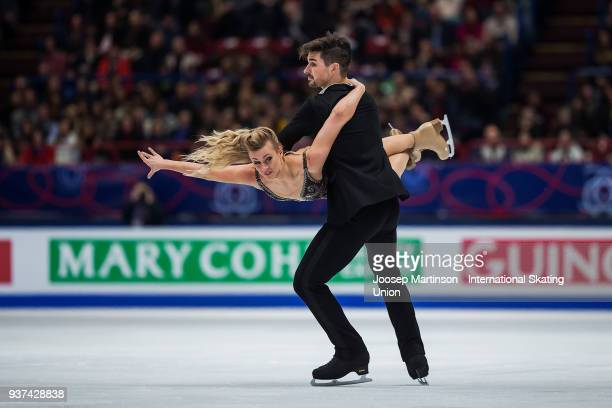 Madison Hubbell and Zachary Donohue of the United States compete in the Ice Dance Free Dance during day four of the World Figure Skating...