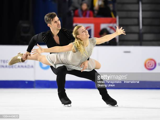 Madison Hubbell and Zachary Donohue of the United States compete on day two during the ISU Grand Prix of Figure Skating Skate Canada International at...