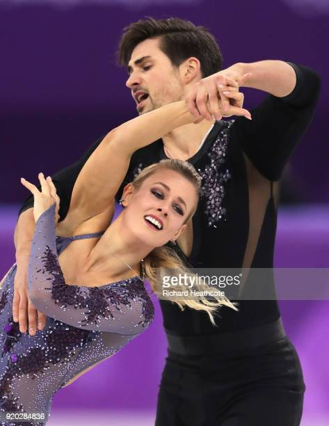 Madison Hubbell and Zachary Donohue of the United States compete during the Figure Skating Ice Dance Short Dance on day 10 of the PyeongChang 2018...