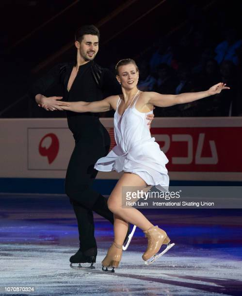 Madison Hubbell and Zachary Donohue of The United States performs at the Gala Performance on December 2018 at the ISU Junior Senior Grand Prix of...