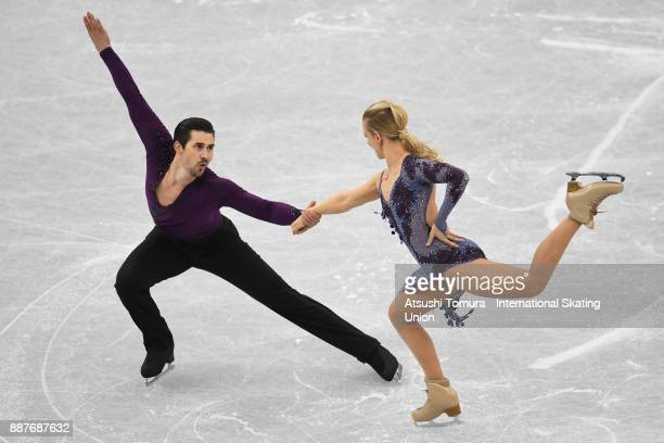 Madison Hubbell and Zachary Donohue of the USA compete in the Ice dance short dance during the ISU Junior Senior Grand Prix of Figure Skating Final...