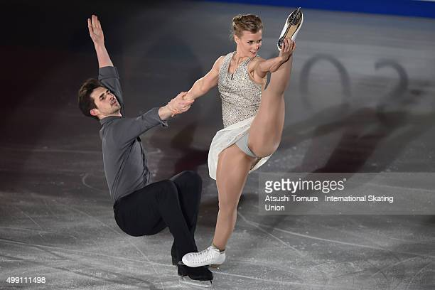 Madison Hubbell and Zachary Donohue of the USA perform in the gala exhibition during the day three of the NHK Trophy ISU Grand Prix of Figure Skating...