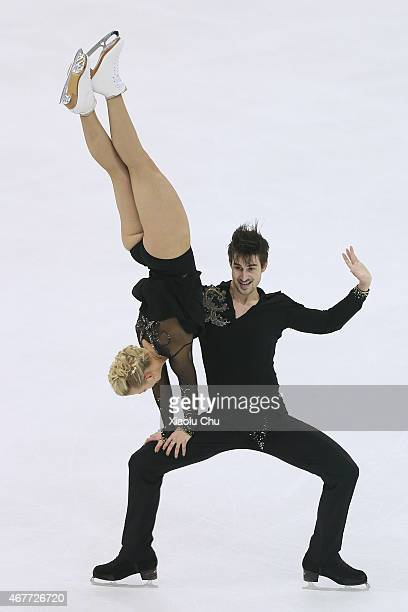 Madison Hubbell and Zachary Donohue of United States perform during the Ice DanceFree Dance on day three of the 2015 ISU World Figure Skating...