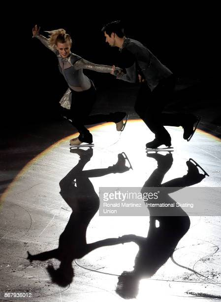 Madison Hubbell and Zachary Donohue of USA perform in the exhibition gala during the ISU Grand Prix of Figure Skating at Brandt Centre on October 29...