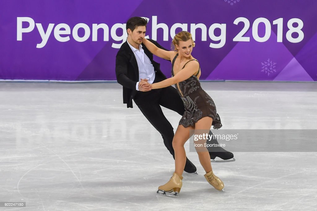 Madison Hubbell and Zachary Donohue (USA) skate in the free dance of the Ice Dancing competition during the 2018 Winter Olympic Games at the Gangneung Ice Arena on February 20, 2018 in PyeongChang, South Korea.
