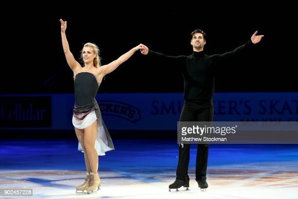 Madison Hubbell and Zachary Donohue skate in the Smucker's Skating Spectacular during the 2018 Prudential US Figure Skating Championships at the SAP...