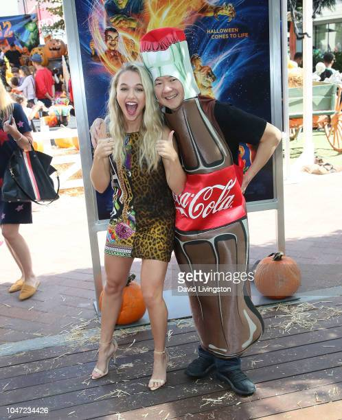Madison Iseman and Ken Jeong attend Columbia Pictures and Sony Pictures Animation's Goosebumps 2 Haunted Halloween special screening at Sony Pictures...