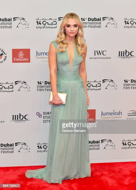 Madison Iseman attends the 'Jumanji Welcome to the Jungle' on day four of the 14th annual Dubai International Film Festival held at the Madinat...