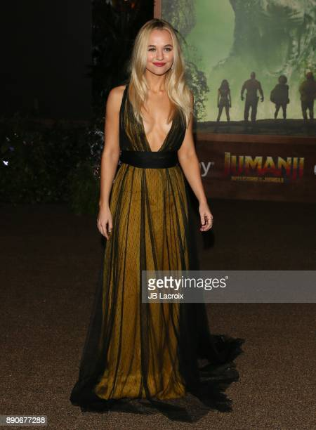 Madison Iseman attends the premiere of Columbia Pictures' 'Jumanji Welcome To The Jungle' on December 11 2017 in Los Angeles California