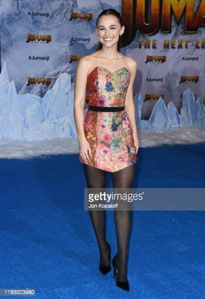 Madison Iseman attends the premiere of Sony Pictures' Jumanji The Next Level on December 09 2019 in Hollywood California