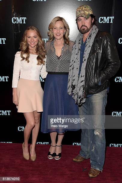 Madison Iseman Joey Lauren Adams and Billy Ray Cyrus attend Viacom Kids And Family Group Upfront Event at Frederick P Rose Hall Jazz at Lincoln...