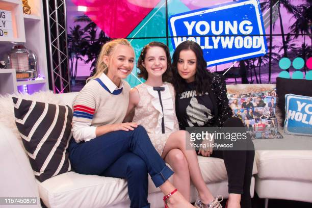 Madison Iseman Mckenna Grace and Katie Sarife from Annabelle Returns visits the Young Hollywood Studio on June 21 2019 in Los Angeles California