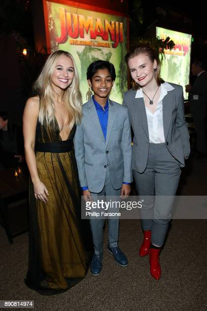 Madison Iseman Rohan Chand and Morgan Turner attend the premiere of Columbia Pictures' Jumanji Welcome To The Jungle After Party on December 11 2017...