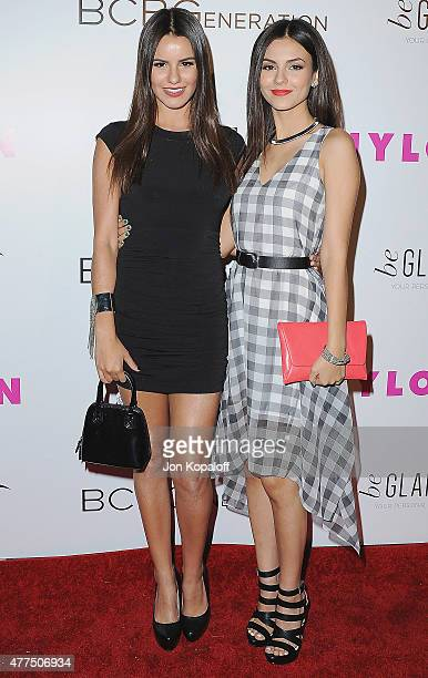 Madison Justice and sister actress Victoria Justice arrive at NYLON Magazine And BCBGeneration Annual May Young Hollywood Issue Party Hosted By May...