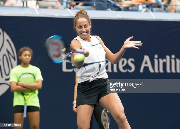 Madison Keys attends the 2018 Arthur Ashe Kids' Day at USTA Billie Jean King National Tennis Center on August 25 2018 in New York City