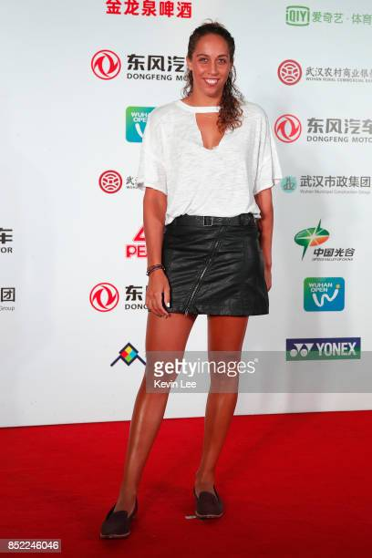 Madison Keys of United States poses for a picture at a party of 2017 DONGFENG MOTOR WUHAN OPEN on September 23 2017 in Wuhan China
