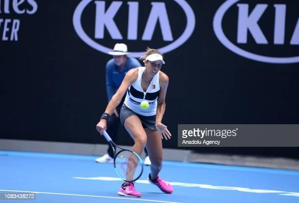 Madison Keys of USA in action against Anastasia Potapova of Russia during Australian Open 2019 Women's Singles match in Melbourne Australia on...