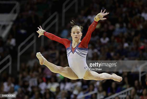 Madison Kocian competes in the floor exercise during Day 2 of the 2016 US Women's Gymnastics Olympic Trials at SAP Center on July 10 2016 in San Jose...