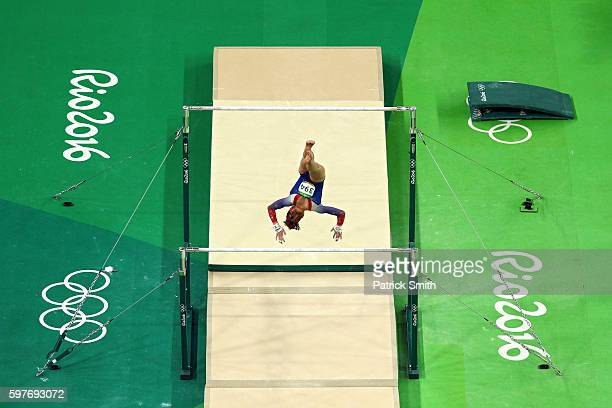 Madison Kocian of the United States competes in the Women's Uneven Bars Final on Day 9 of the Rio 2016 Olympic Games at the Rio Olympic Arena on...