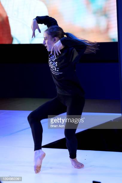 Madison Lynch performs onstage on behalf of the American Foundation for Suicide Prevention during NYFW Powered By hiTechMODA on February 08 2020 in...