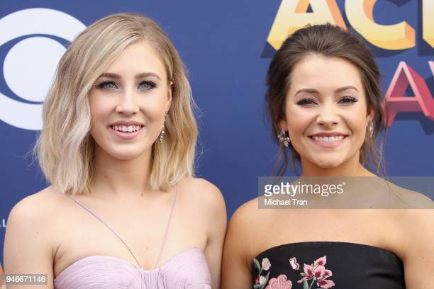 Madison Marlow and Taylor Dye attend the 53rd Academy of Country Music Awards at MGM Grand Garden Arena on April 15 2018 in Las Vegas Nevada
