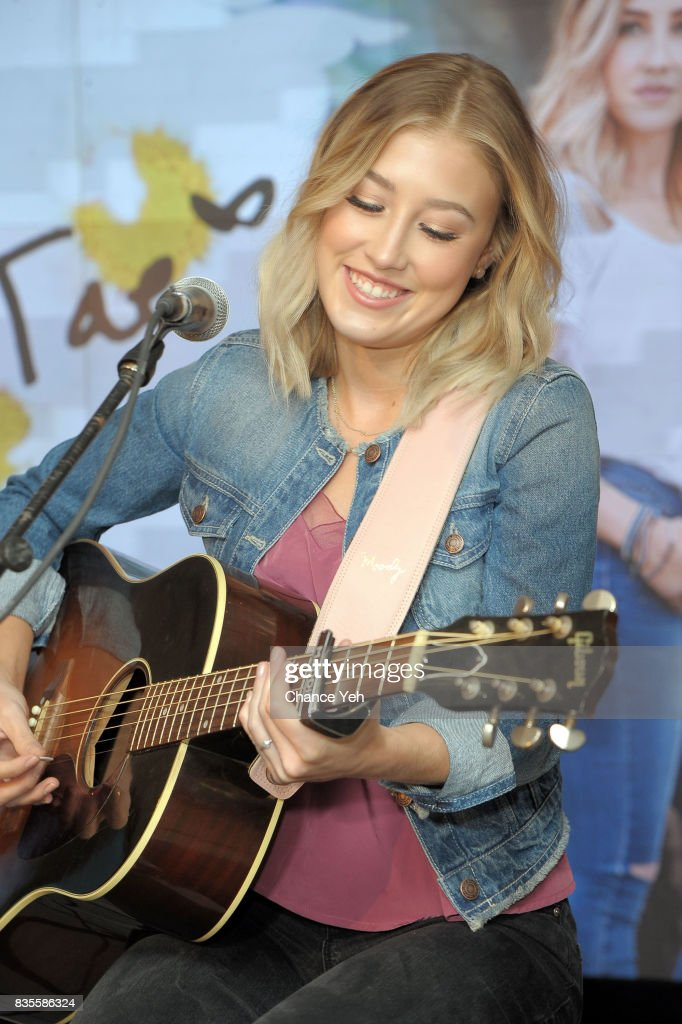 Madison Marlow of Maddie & Tae performs at Macy's at Macy's Herald Square on August 19, 2017 in New York City.